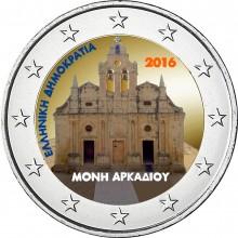 Griekenland 2 Euro 2016 Arkadi Klooster Gekleurd
