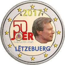 Luxemburg 2 Euro 2017 50 Jahre Freiwillige Armee Farbig