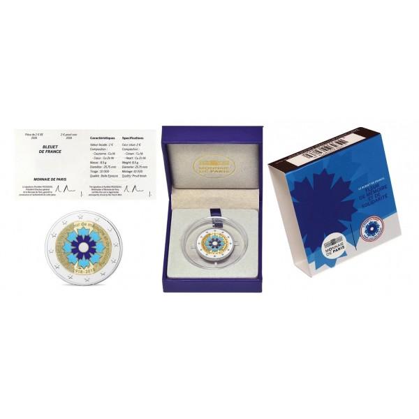 FRANCE  2 € euro  commemorative coin 2018 Bleuet de France UNC Cornflower