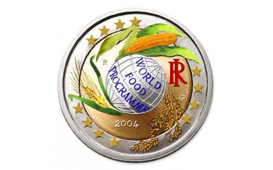 Italy 2 Euro 2004 World Food Programme Coloured Eurocoinhouse