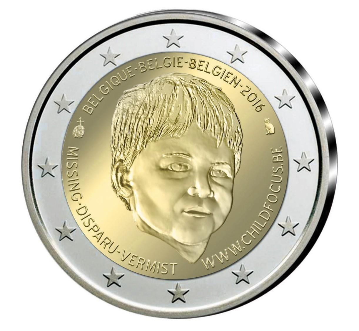 Belgium 2 euro 2016 Child focus PROOF in capsule #4811