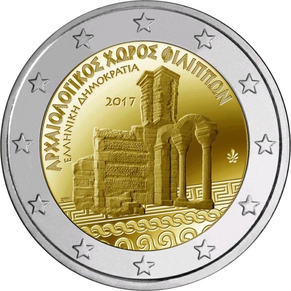 Philippi Unc 2 Euro Greece 2017