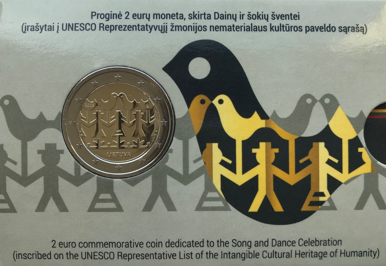 Lithuania 2 Euro 2018 Song and Dance Celebration Coincard