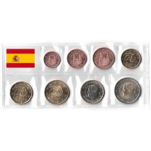 2 EURO UNC #1696 Spain 8 coins set 2009 1 C