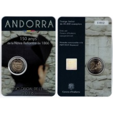 Andorra 2 Euro 2016 New Reform 150 years