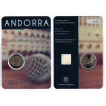 Andorra 2 Euro 2016 25 Years Radio and Television