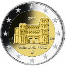 Germany 2 Euro 2017 Rhineland Palatinate - Porta Nigra