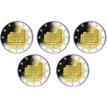 Germany 2 Euro 2017 Rhineland Palatinate - Porta Nigra set of 5 Coins