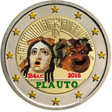 Italy 2 Euro 2016 Plautus Coloured