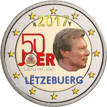Luxemburg 2 Euro 2017 50 Years Voluntary Army Coloured